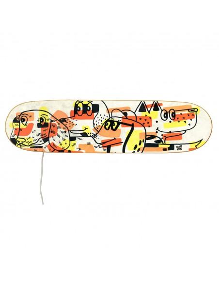 Skateboard lampe: Hunde