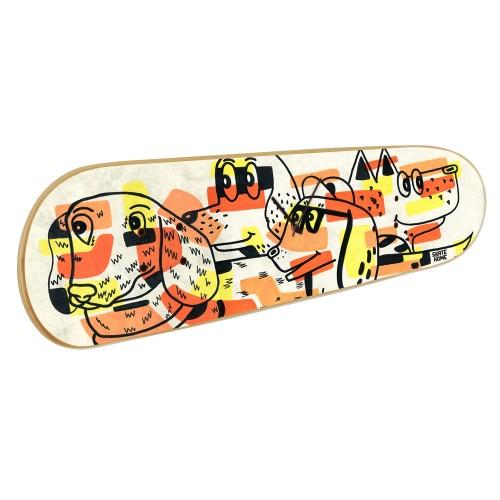 Skateboard Wall Clock Dogs