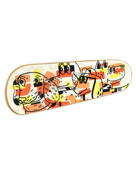 Skateboard Wall Clock: Dogs