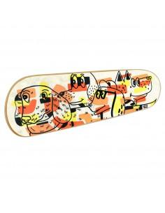 Skateboard Art Mural: Les chiens