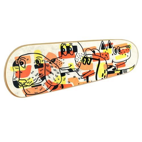 Skateboard Wandkunst: Hunde