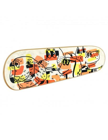 Skateboard Arte de pared: Perretes