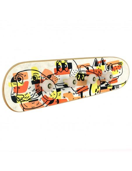 Skateboard coat rack: Dogs