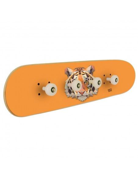 Skateboard coat rack Tiger