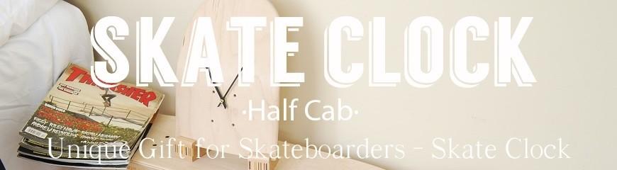 Skateboard Clock Half-Cab