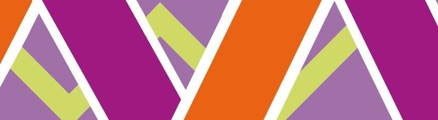 Púrpura y naranja